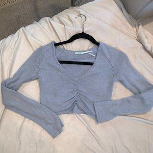 urban outfitters blue cropped sweater top